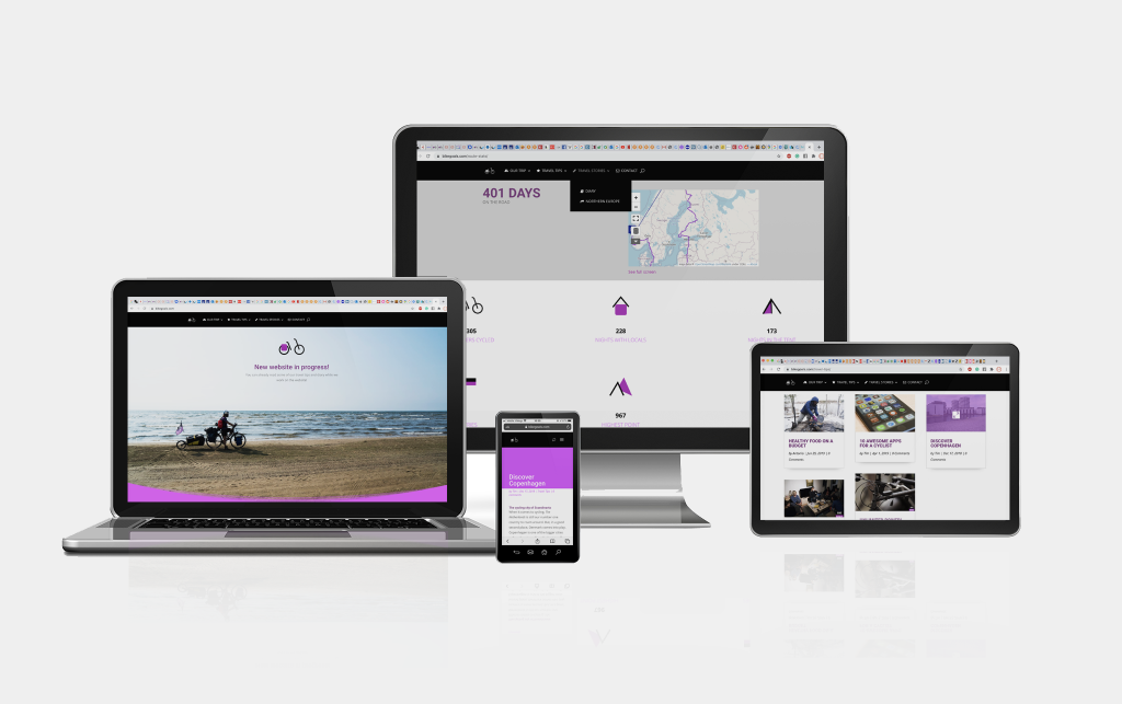 Bikegoals responsive webdesign