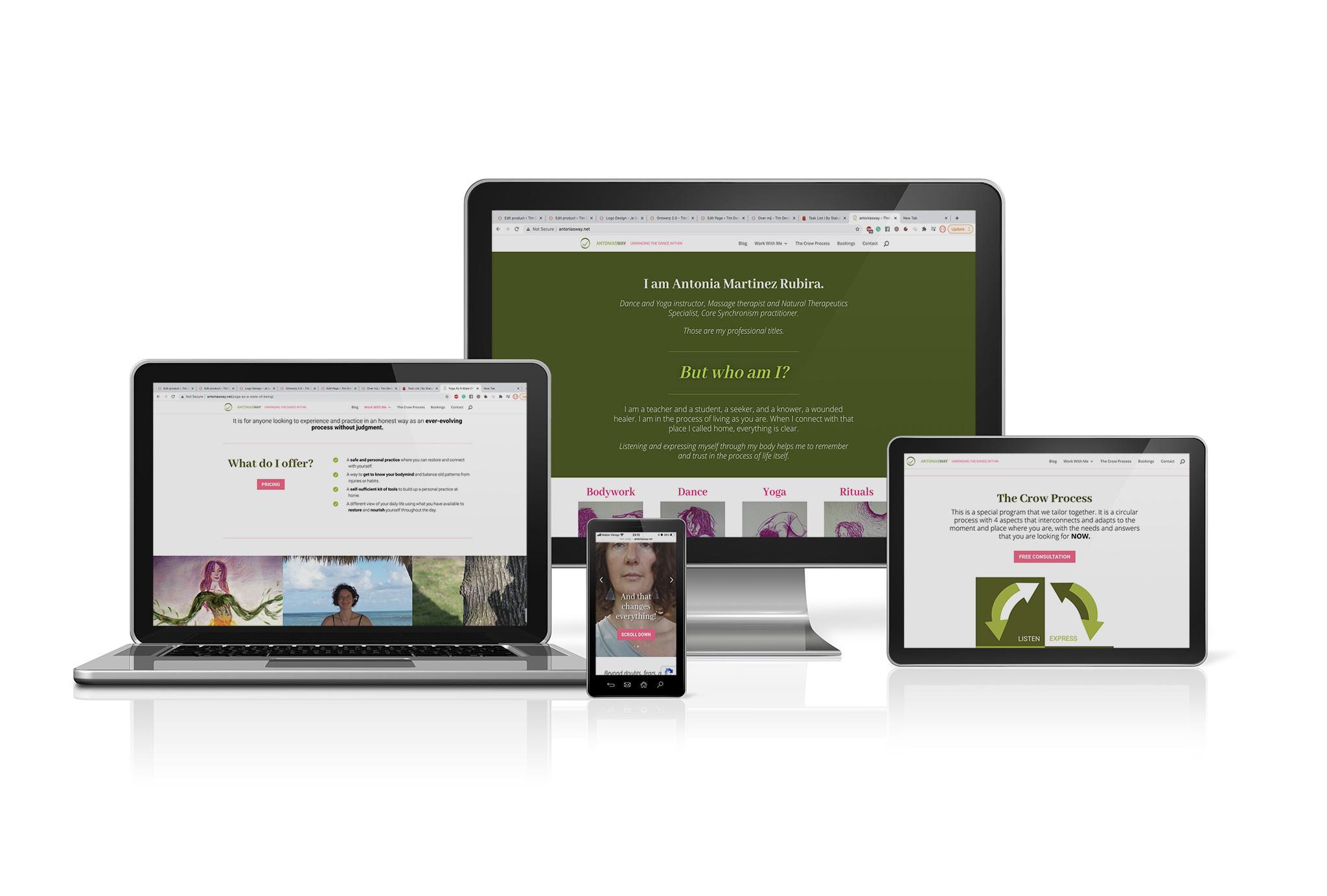branding antoniasway website